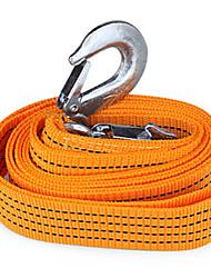 3m 3tons буксировочный кабель прицепное ремень буксировочный канат с крючками для тяжелых автомобилей чрезвычайным