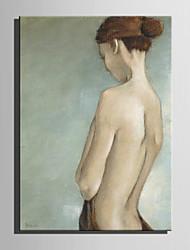 dibujar la mini pintura al óleo del tamaño de correo casa mujer moderna pura mano de pintura decorativa sin marco