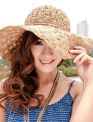 Women Straw Fashion Simple Beach Fedora Hat,Cute / Party / Casual Spring / Summer / Fall