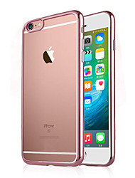 iphone 7 mais galvanoplastia TPU luxo estojo transparente para iphone 6s 6 mais