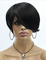 Short Hair Cut Human Hair Wigs Unprocessed Virgin Brazilian Machine Made Human Hair None Lace Wigs