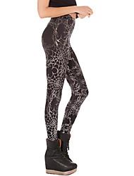 Legging A Motifs Moyen Polyester Femme