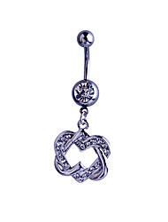 Femme Navel & Bell Button Rings Argent sterling / Zircon / Gemme Argent Bijoux,1pc