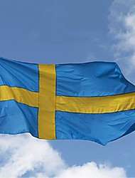 Sweden Flag 3*5 Feet. Polyester Flag.90*150 Banners. Big Flag Banner ,Swedish Flag Banner(Without flagpole)