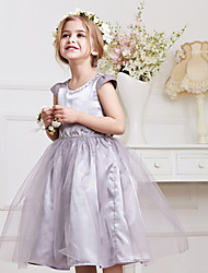 Girl's Gray Dress/ Dresswear Polyester Summer / Spring / Fall