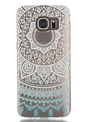 Para Samsung Galaxy S7 Edge Transparente / Estampada Capinha Capa Traseira Capinha Mandala TPU Samsung S7 edge / S7 / S6 edge / S6 / S5