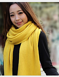 Long Solid Color  Candy-colored Thick Wool Winter Scarf