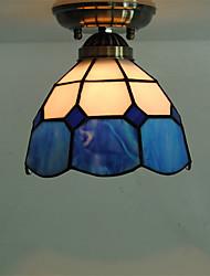7inch Retro Tiffany Ceiling Lamp Glass Shade Flush Mount Living Room Dining Room light Fixture