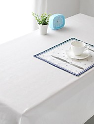 Pure White Table cloth Fashion Hotsale High-grade Cotton Linen Square Coffee Table Cloth Cover Towel