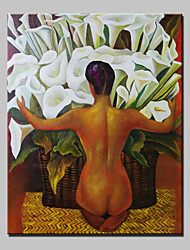 Handmade Oil Painting On Canvas Lily Flower Nude Wall Paintings For Living Room Home Decor Whit Frame Ready To Hang