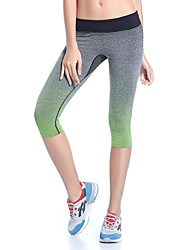 YUIYE® Women Fashion Gorgeous Gradient Sports Running Seven Points Pants Fall Gym Fitness Workout Leggings