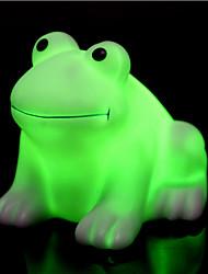 творческий изменения цвета красочные счастливым лягушки привело свет ночи