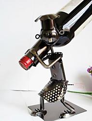 металлическое железо творческого человека вино держатель для бутылки домашняя кухня гостиная коллекция декора пивной бар держатели стойки