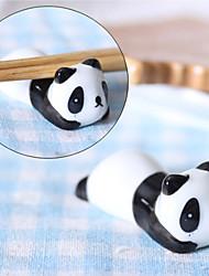 Cute Lazy Panda Ceramic Chopsticks Holder Cutlery Rest Stand,Set of 2