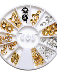 preciosas 6cm mentales 72pcs caliente 12 tipos de joyas de uñas