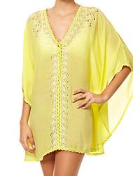 Une-pièce / Robes Légères Aux femmes Couleur Pleine Une-Pièce Licou Polyester