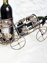 Creative Wine Iron Bottle Rack Bronze Iron Vine Car Models