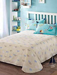 Ocean Dream 100% Cotton Twill 3 Pcs Sheet Set for Queen Size Bed