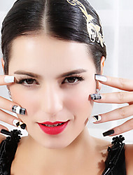 2D Slim Metal Laser Sticker PVC Lovely Nail Jewelry