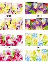 1pcs  Nail Art Water Transfer Stickers Charming Flower Image Design C164-171