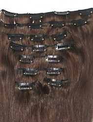 "120g/lot 16""-24"" Clip In Human Hair Extensions #2 #4 #6 #8 Straight"