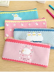 Sheep Pattern Fabric B6 File Bag(Random Color)