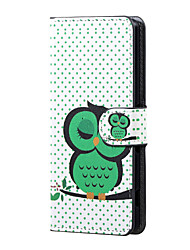 For Wiko Case Card Holder / with Stand / Flip / Pattern Case Full Body Case Owl Hard PU Leather Wiko
