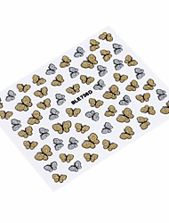Fashion 3D Butterfly Nail Art Shinning Stickers DIY Nail Sticker Nail Art Accessories