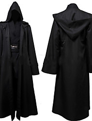 Star Battle Skywalker Outfit Black Cloak Full Set Anime Cosplay Costumes Cosplay Suits Solid Black Long Sleeve Cloak / Top / Pants / Corset / Belt