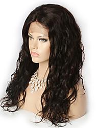 2015 moda 10-30inch 100% frente perucas cabelo virgem onda solta peruano cor natural do laço