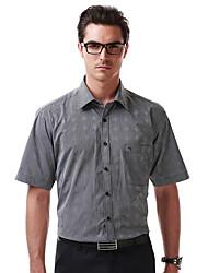 Sieben Brand® Herren Hemdkragen Kurze Ärmel Shirt & Bluse Grau-71A394B88