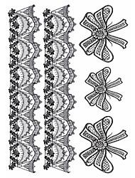 2 Tattoo Aufkleber Schmuck Serie / Tier Serie / Blumen Serie / Totem Serie / Cartoon-Serie Non Toxic / Muster / Große Größe / Waterproof
