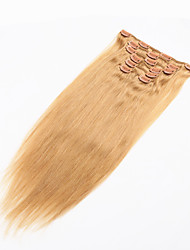 Brazilian Clip In Human Hair Extensions Full Head 70g/7pcs Clip In Brazilian Hair Extensions Virgin Human Hair Clip in