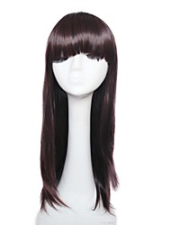 Capless Long High Temperature Wire Dark Brown Natural Straight Hair Wig
