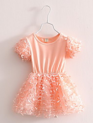BK  Girls Butterfly Lace Dress Child Summer Kids Top Princess