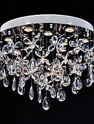 Clear Crystal Lighting Flush Mount Modern Lamp 9 Lights