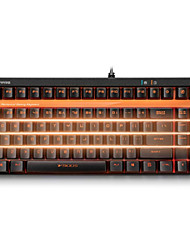Orginal Rapoo V500S Black Switch Upgraded Backlight Version Full Keys Programmable 2.0mm Pro Mechanical Gaming Keyboard