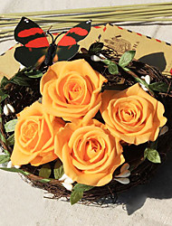 3.5-4.5cm Nine Orange Roses/Box Preserved Fresh Flowers