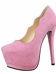 Women's Heels Summer Heels Fleece Casual Stiletto Heel Others Black / Brown / Pink / Red / Gray / Fuchsia Others