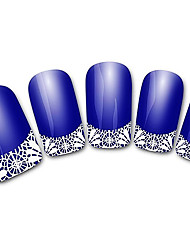 Abstract Blue XF821 French 3D Nail Stickers