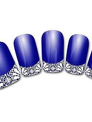 абстрактный синий xf821 французский 3d наклейки для ногтей