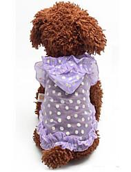 Perros Camiseta Verde / Morado Verano / Primavera/Otoño Clásico Moda, Dog Clothes / Dog Clothing-Lovoyager