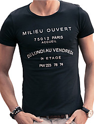 Retro men plain short sleeved T-shirt summer half sleeve T-shirt printing breathable Korean men's shirt tide letters