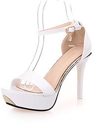 Scarpe Donna-Sandali / Scarpe col tacco-Tempo libero / Ufficio e lavoro / Casual-Tacchi / Spuntate-A stiletto-Finta pelle-Rosa / Viola /
