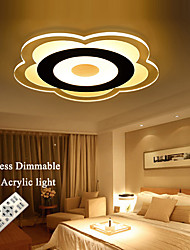 LED Acrylic Light Stepless Dimmable 72W Acrylic LED Ceiling Lights + Remote Control AC85-265V