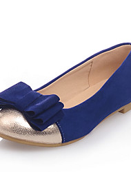 Women's Shoes Flat Heel Comfort / Round Toe Flats Dress / Casual Black / Blue / Pink
