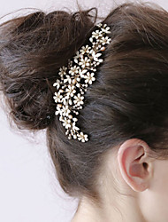 Bride's Flower Shape Beads Wedding Accessories Hair Combs 1 Pieces