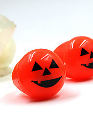 1pcs Halloween yeux anneau de jouets doux et lumières de citrouille sonner bague lumineuse (couleur aléatoire)