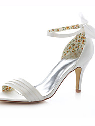 Women's Shoes Stretch Satin Stiletto Heel Heels Sandals Wedding / Party & Evening / Dress Ivory