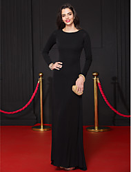 Formal Evening Dress Sheath / Column Scoop Floor-length Jersey with